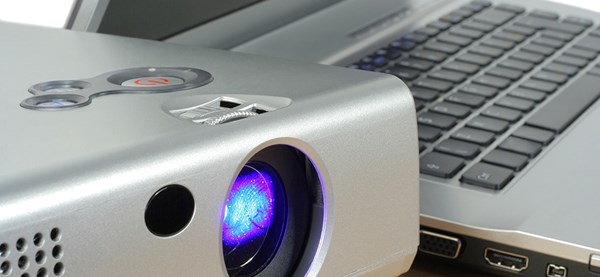 Projector and a laptop
