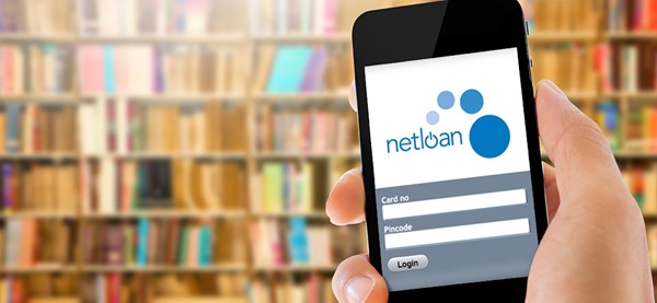 netloan software on a mobile in a library