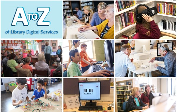 A-Z of Library Digital Services Infographic